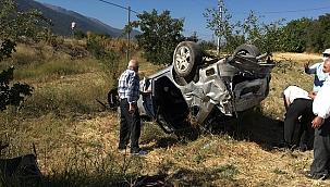Denizli'de otomobil şarampole devrildi: 1 ölü, 3 yaralı