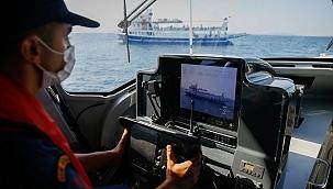 Ege Denizi'nde Kovid-19 denetimi yapıldı