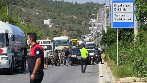 Otomobille LPG tankeri çarpıştı 3 kişi yaralandı