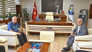 Salihli'nin Yeni Emniyet Müdürü Doğan Başkan Kayda'yı Ziyaret Etti