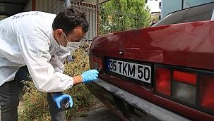 Trafik kontrolü için durdurulan otomobilin çalıntı olduğu belirlendi