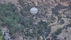 Ulubey Kanyonları'nda sıcak hava balonu test edildi
