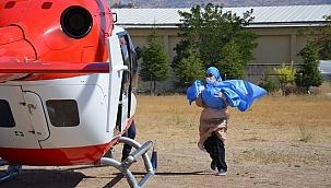 Vebek, ambulans helikopterle İzmir'e götürüldü