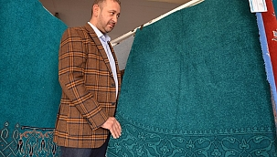 Kariye Camisi'nin halılarına son dokunuşlar