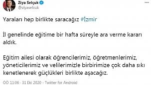 Son dakika haber... Bakan Selçuk: İzmir'de eğitime 1 hafta ara verme kararı aldık