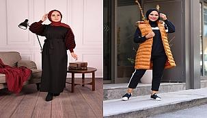 Tesettür Kazak ve Jile elbiseler ile Kış modas