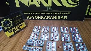 Afyonkarahisar'da uyuşturucu hap operasyonu