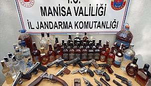 Manisa'da 3 bin 918 litre sahte içki ele geçirildi