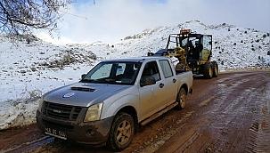 Muğla'nın yüksek kesimlerinde kar etkili oldu
