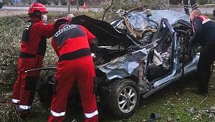 Muğla'da devrilen otomobilin sürücüsü hayatını kaybetti