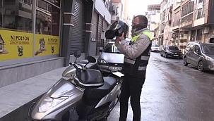 Sele kapılan motosikletin sürücüsü o anları anlattı