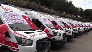 Sağlık Bakanlığı tarafından gönderilen 30 ambulans hizmete alındı