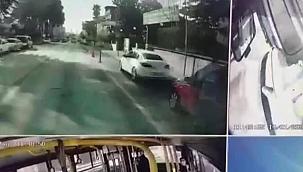 Yere yığılan kişinin yardımına halk otobüsü şoförü koştu