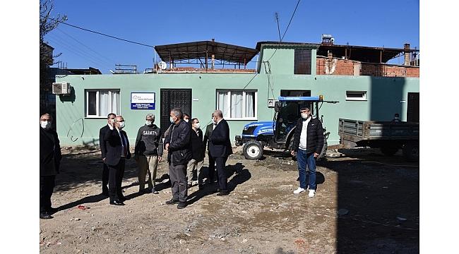 Salihli Belediyesi Güneş Caminde Çevre Düzenleme Çalışmaları Başlattı