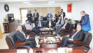 Afyonkarahisar'da CHP'den AK Parti'ye ziyaret