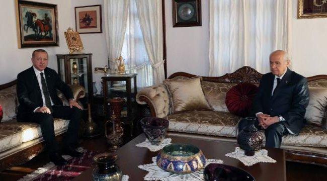 Erdoğan ile Bahçeli'nin sürpriz görüşmesinde gündem neydi?