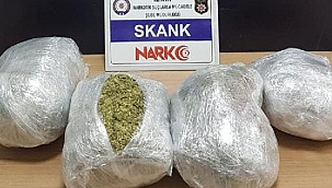İzmir'de durdurulan araçta 4 kilo 'skank' ele geçirildi