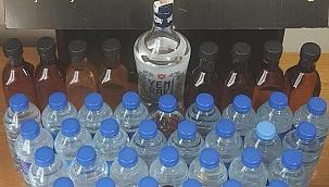 Manisa'da sahte içki operasyonunda 2 kişi yakalandı