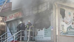 Özel tıp merkezinde çıkan yangın söndürüldü