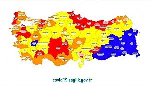 Sağlık Bakanı Koca Kovid-19 risk haritasını paylaştı