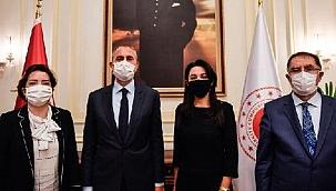 Bakan Gül, Azerbaycan İnsan Hakları Komiseri Aliyeva ile görüştü