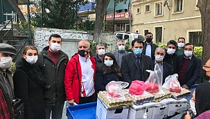 CHP Konak'tan vatandaşa yüzlerce vatandaşa destek