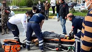 Kazada kalbi duran kadını sağlıkçılar hayata döndürdü