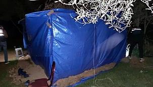 Kısıtlamada kumar oynamak için brandadan çadır yapmışlar