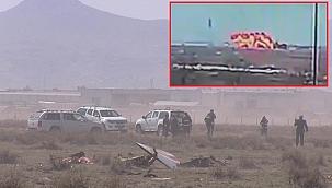 Konya'da Türk Yıldızları uçağının düşme anına ait görüntüler ortaya çıktı