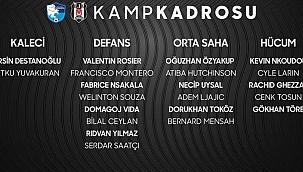 Son dakika... Beşiktaş'ın kamp kadrosu belli oldu