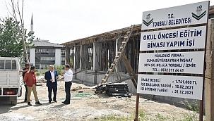Başkan Tekin, inşaat çalışmalarını inceledi