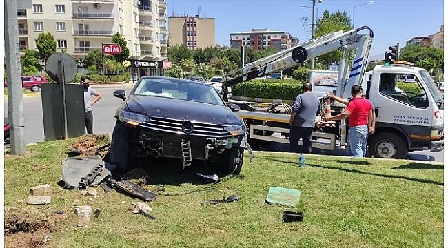 İki otomobilin çarpışması sonucu 1 kişi yaralandı