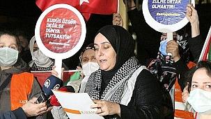 KADEM, İsrail'in saldırılarını protesto etti