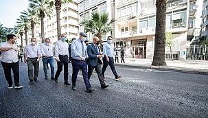 Soyer, Talatpaşa Bulvarı'ndaki asfalt çalışmalarını inceledi