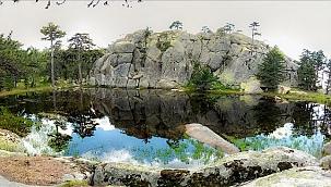 Eğrigöz Dağı'nın zirvesindeki doğal gölet keşfedilmeyi bekliyor