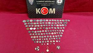 İzmir'de 131 parça tarihi eser ele geçirildi, 1 kişi yakalandı