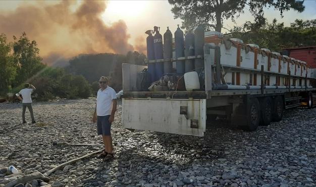 Su ürünleri sektörü yangınlar için sefer