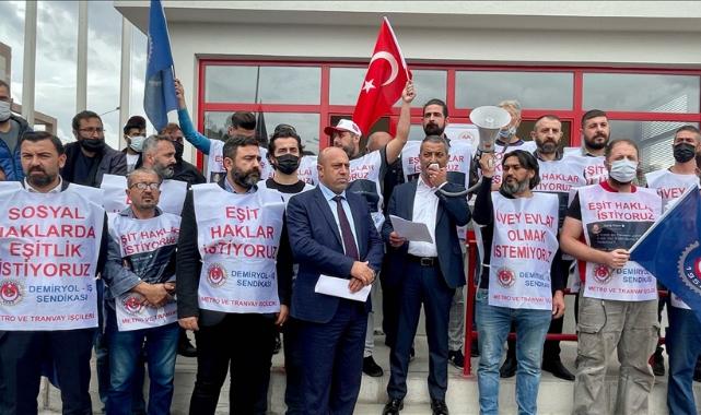 İzmir'de metro ve tramvay çalışanları grev kararı astı