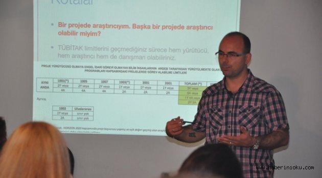 """EGESEM'de """"TÜBİTAK Proje Hazırlama Tekniği Eğitimi"""" verildi"""