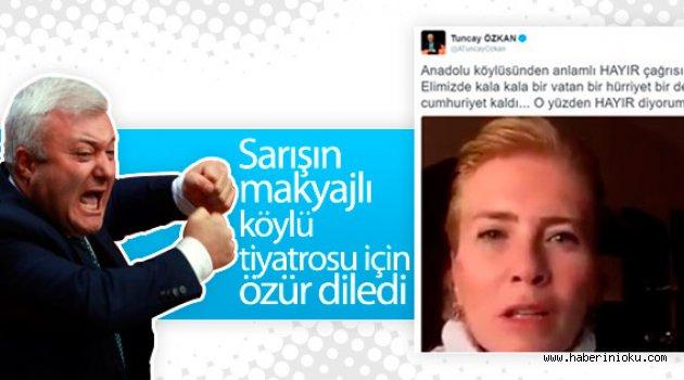 Tuncay Özkan o video için özür diledi