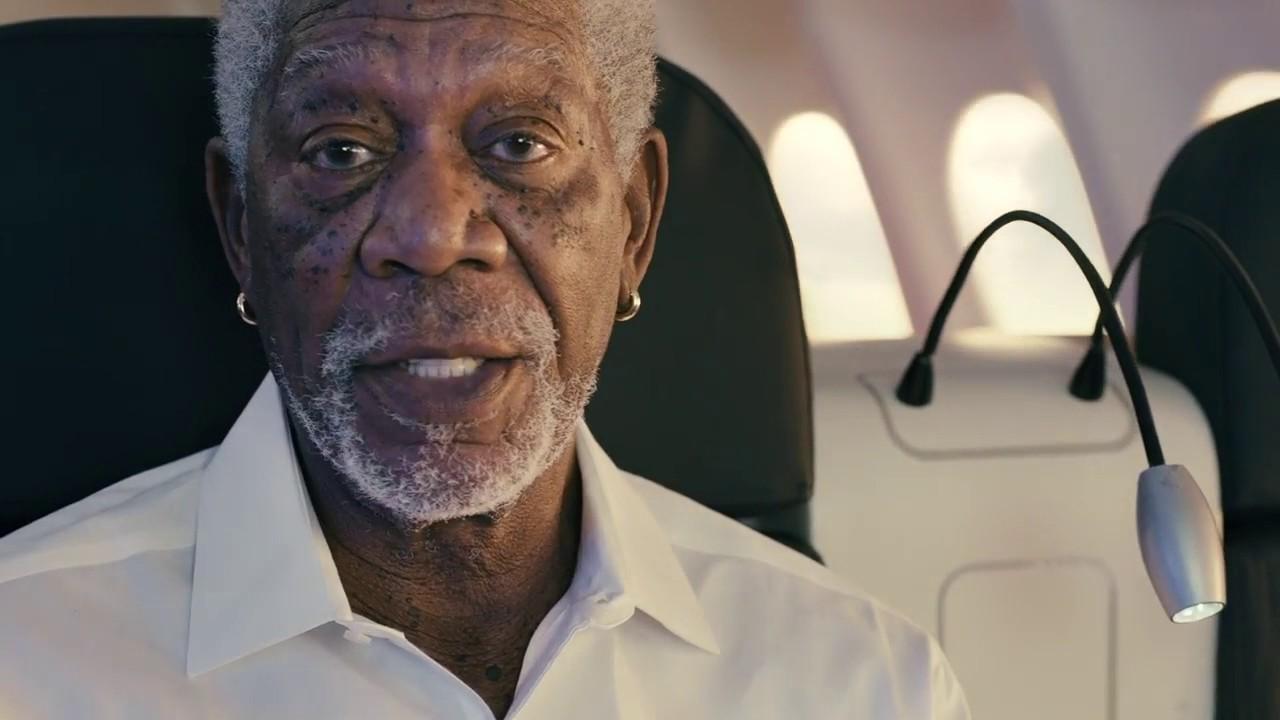 Türk Hava Yolları (THY) marka yüzü olarak ünlü oyuncu Morgan Freeman