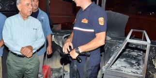 Gürçeşme Zübeyde Hanım Huzurevi'nde çıkan yangının ardından olay yeri görüntüler